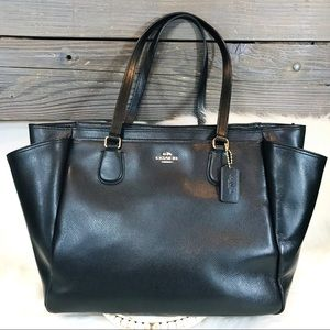 Coach Large Crossgrain Leather Tote
